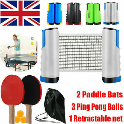Portable Retractable Table Tennis Net Kit Ping Pong Indoor Games ReplacementSet • 11.98£