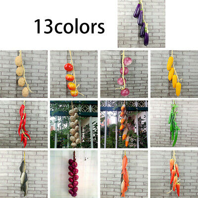 Artificial Vegetable Fish String Simulation Onion Carrot Tomato Hanging-Decor • 4.14£