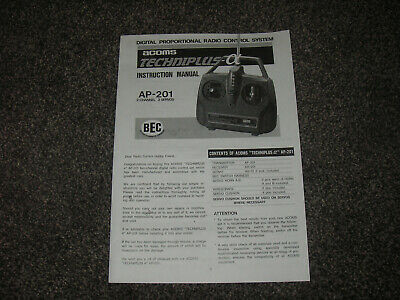 £3.75 • Buy Copy Of Instructions / Manual For ACOMS Techniplus AP-201 Transmitter