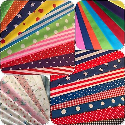 Polycotton Fabric Sqauare Bundles.fat Quarters Or 10 Inch.crafts.christmas. • 5.50£