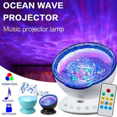 LED Galaxy Starry Projector Night Lights Ocean Wave Lamp Music Speaker Remote UK • 18.35£