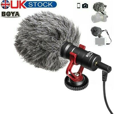 BOYA BY-MM1 Cardioid Shotgun Microphone Video Mic For Camera Smartphone Youtube • 20.99£