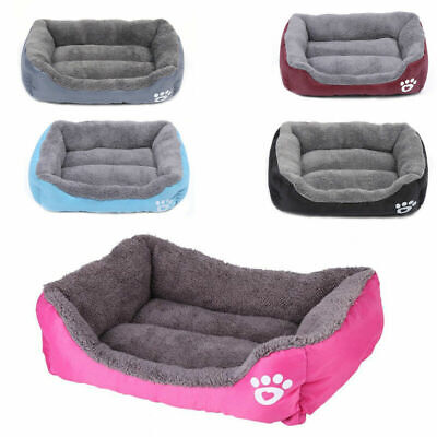 UK Pet Dog Cat BED Puppy Cushion House Soft Warm Kennel Mat Blanket Washable Bed • 18.89£