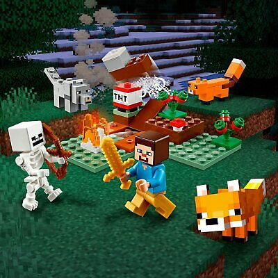 AU27.25 • Buy LEGO Minecraft The Taiga Adventure Brick Building Toy  Boys Party Gift Birthday