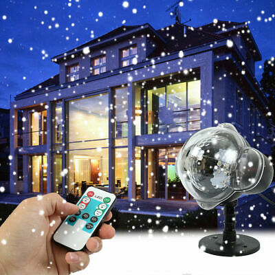 Christmas LED Moving Laser Projector Snowflake Fairy Light Xmas Party Garden UK • 21.58£