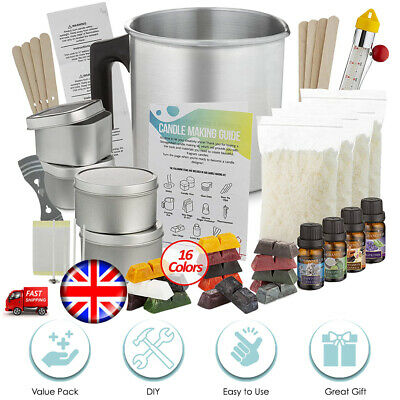 Creative DIY Soy Wax Candle Making Kit Supplies - Wax*wicks*dyes*fragrance*tins • 36.99£
