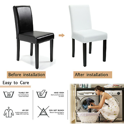 AU24.99 • Buy 4/6/8Pcs Dining Chair Covers Slipcovers Stretch Elastic Washable Wedding Banquet