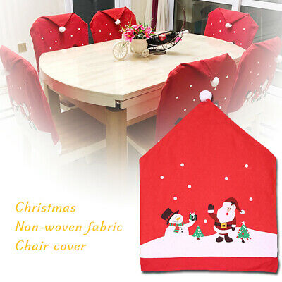 Christmas Chair Cover Santa Hat Decoration Or Xmas Table Cover Tablecloth IN • 6.28£