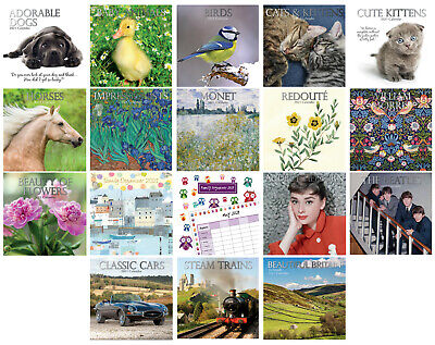 2021 Large Month To View Wall Calendars And Planners - 18 Designs - 30cm X 30cm • 3.99£
