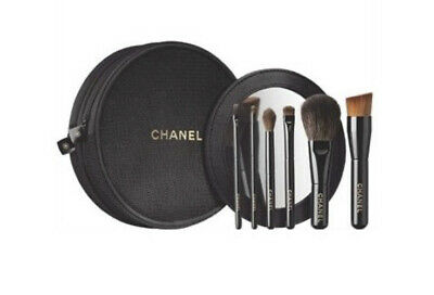 CHANEL Les Mini De Chanel Set Makeup Brushes Holiday Novelty Pouch Black 2015 • 115.99£