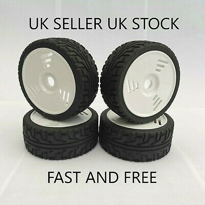 😀rc 1/8 Scale Car Buggy Wheels Rims On Road & Tyres Tires X4 Hsp Hpi L@@k😀 • 23.99£