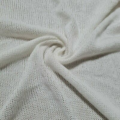 £4.99 • Buy Sweater Knit Jersey Fabric Sparsely Knited Viscose Sold By The Metre