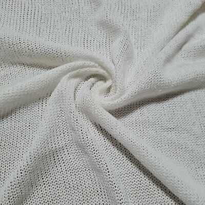 Sweater Knit  Jersey Fabric Sparsely Knited Viscose -sold By The Metre • 4.99£