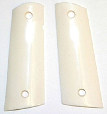 $33.98 • Buy 1911 Full Size Grips Colt Magwell Bottom Grips Genuine Solid Buffalo Bone Smooth