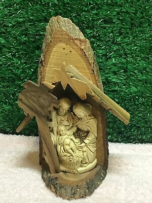 Vintage Wooden Crafted Nativity Scene Christmas Christianity • 20£