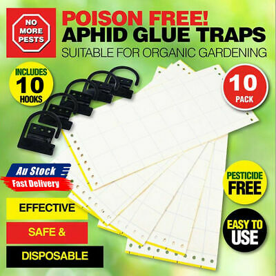 AU15.69 • Buy 10pcs Yellow Sticky Trap Insect Killer Whitefly Thrip Fly Gnat Pest Catch Papers
