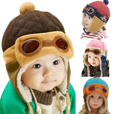 Toddlers Cool Baby Boy Girl Infant Winter Pilot Warm Cap Hat Beanie • 5.86£