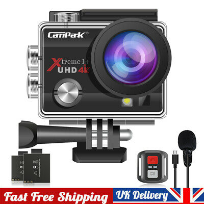 Campark Action Camera WIFI 4K UHD 20MP Waterproof 40M Underwater Remote Control • 39.09£