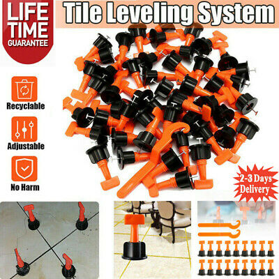 100pcs Tile Positioning Leveler System Kits Tile Spacer Reusable Wall Floor Tool • 15.99£