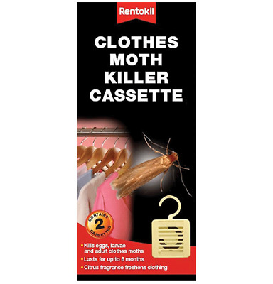 Rentokil Hangable Clothes Moth Killer Cassette 2 Pack Each Lasts Up To 6 Months • 5.99£