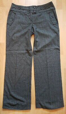 NEXT Grey Suit Trousers Size 14 R Womens Wide Leg Trousers  • 4.99£