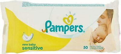 Pampers New Baby Sensitive Baby Wipes 4 Packs = 200 Wipes | Milder Than Cotton  • 10.99£