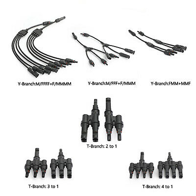 AU28.29 • Buy T/Y Branch Solar Panel 30A Cable Connector Male Female 3to1 Wire Splitter SL