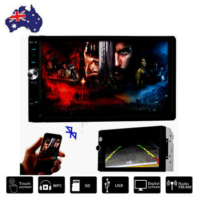 AU79.89 • Buy 7'' 2 Din MP5 Radio Player Double Car Stereo Head Unit Radio LCD Touch Screen AU