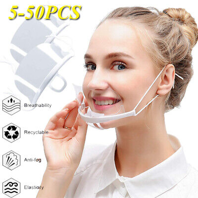 Face Shields Visor Protection Masks UK PPE Transparent Clear Plastic Mouth Cover • 5.99£