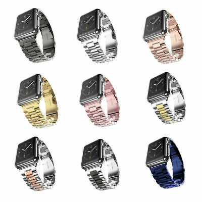 AU16.99 • Buy Metal Strap For Apple Watch Series 6 5 4 3 2 40/44 Stainless Steel IWatchSE Band