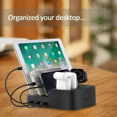 AU79.99 • Buy 6 Port USB Desk Charging Dock Station For Airpods Apple IWatch IPhone IPad AU SK