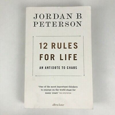 AU18.50 • Buy 12 Rules For Life By Jordan Peterson - Antidote To Chaos Paperback Psychologist