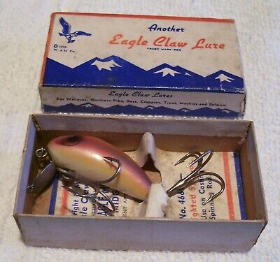 $ CDN26.98 • Buy Beautiful Vintage Wright Mcgill Miracle Minnow Lure 10/8/20p In Box 446w 1.75