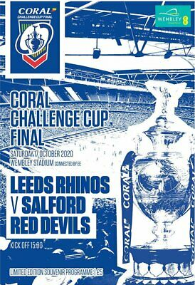 CORAL RUGBY LEAGUE CHALLENGE CUP FINAL PROGRAMME 2020 Leeds Rhinos V Salford  • 8.99£