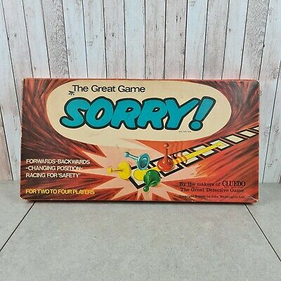 The Great Game Of Sorry Vintage Board Game 1969 John Waddington Complete • 19.95£