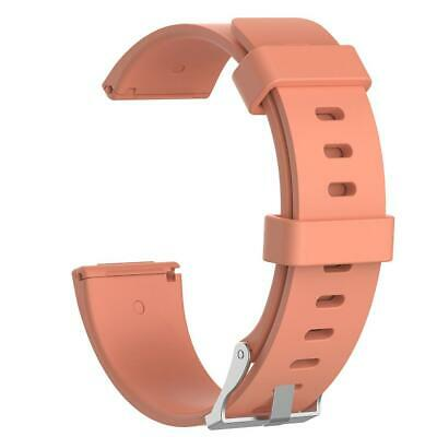 $ CDN4.39 • Buy Soft Silicone Wristband Watch Band Strap For Fitbit Versa(Rose Gold S)