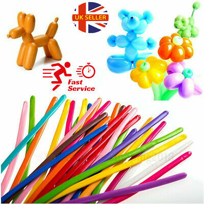 £5.49 • Buy New LONG MAGIC Balloons Different Colours Latex Traditional Modelling X 100