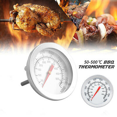 50-500 StainlessSteel Cooking BBQ Smoker Grill Thermometer Temperature Gauge UK • 4.09£