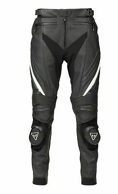 Genuine Triumph Leather Jeans Triumph Triple Leather Sport Trousers Black White • 380£