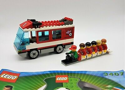 LEGO Set 3407 Football Red Team Bus. Complete • 19.99£