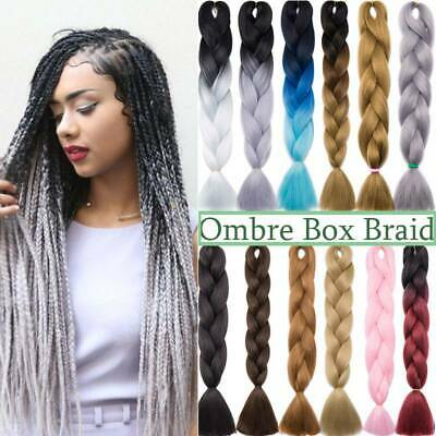 Kanekalon Box Braiding Hair Xpression Hair Extensions Jumbo Braids Real Natural • 9.90£