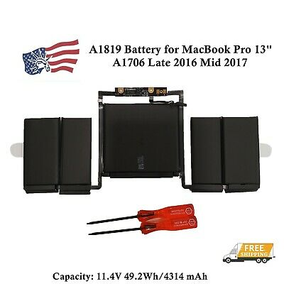 $55.99 • Buy OEM NEW A1819 Battery For MacBook Pro 13  A1706 Late 2016 Mid 2017 EMC 3163 3071