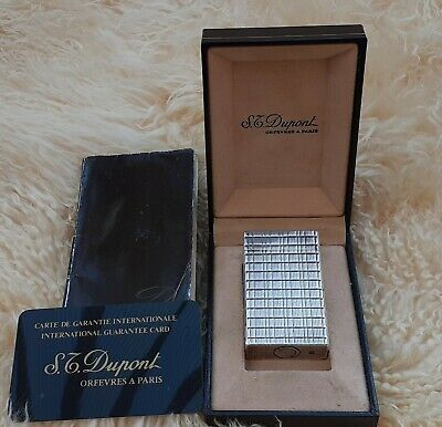 £150 • Buy Large ST Dupoint Silver Plated Ligne 1 Lighter I Original Box. Good Condition.