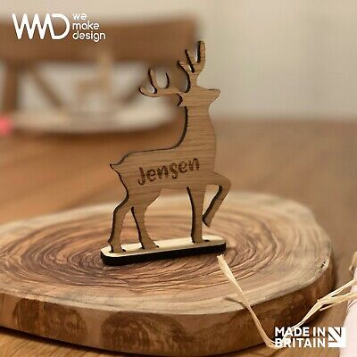 £3.90 • Buy Personalised Christmas 2020 Reindeer Place Name Christmas Decoration