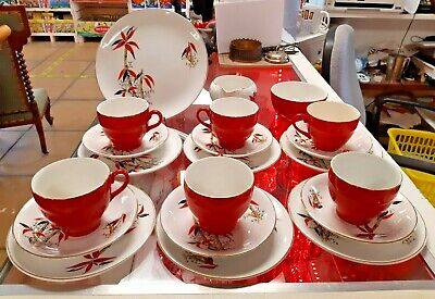 Vintage/Retro Barratts  Delphatic China  Bamboo Pattern 21 Pieces • 45£