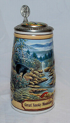 $ CDN18.15 • Buy 1997 Budweiser Lidded Stein Great Smoky Mountains CS297 Perfect Condition