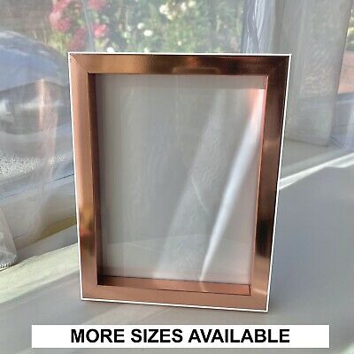 Rose Gold Box Photo Frame Copper Picture Frame Poster Frames A4 6x4 8x6 10x8  • 11.99£