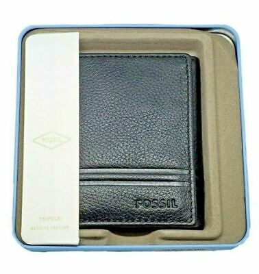 $23.95 • Buy NEW Fossil Men's Wilder Trifold Black Leather Wallet NWT NEW IN BOX