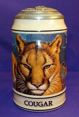 $ CDN27.82 • Buy Vintage 1994 Budweiser Lidded Stein Endangered Species Cougar #32166