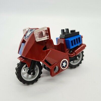 Lego Lego Dark Red Motorcycle From 6865 (52035) Complete Marvel Avengers  • 3.49£